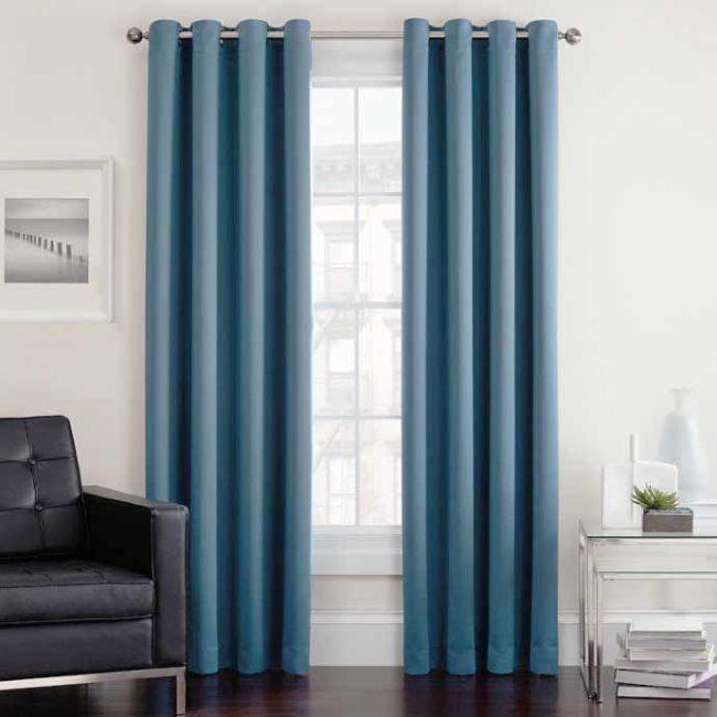 Rèm phòng ngủ màu xanh
