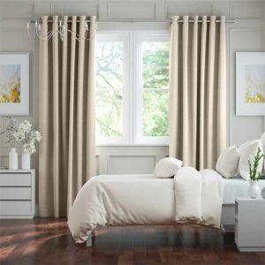 Màn vải phòng ngủ chống sáng màu kem