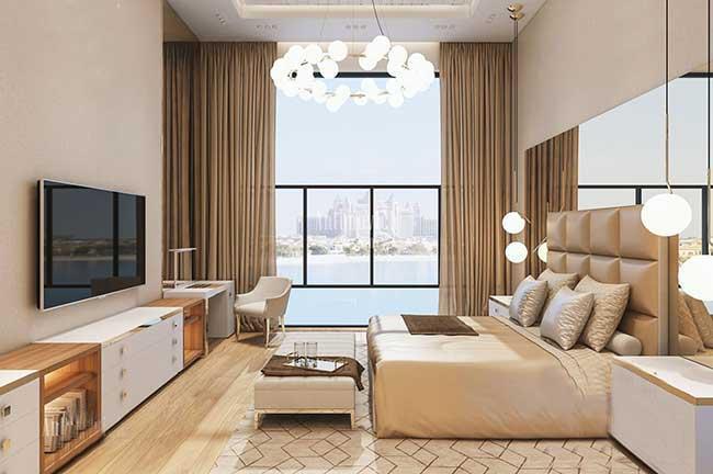 Rèm phòng ngủ hiện đại cho villa