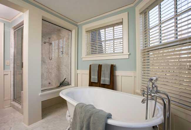 Rèm gỗ giả phòng tắm