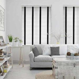 rèm gỗ trắng hiện đại phòng khách