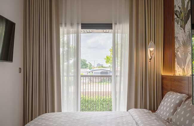 Rèm vải phòng ngủ chung cư Flora Anh Đào Quận 9
