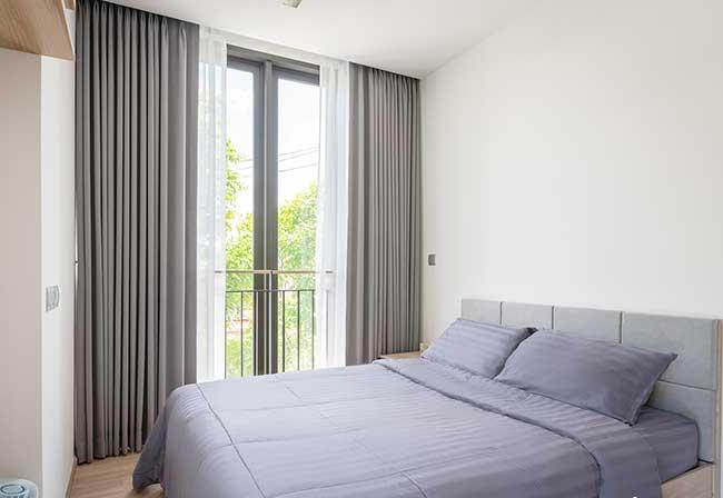 Rèm vải chống sáng phòng ngủ