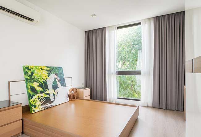 Rèm cửa phòng ngủ quận Tân Phú hiện đại