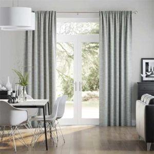 Rèm vải 2 lớp màu xám hiện đại