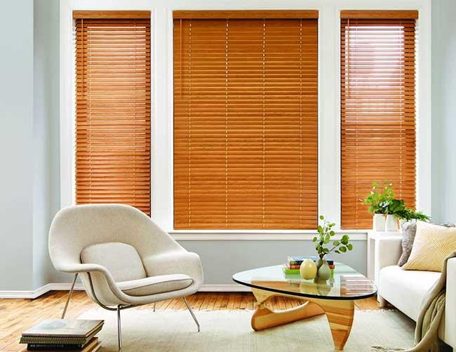 Rèm gỗ sang trọng cho phòng khách